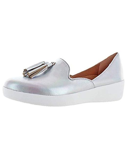 01e16cc0d81 Fitflop - Metallic Tassel Superskate D orsay Loafers-latticed Leather ...