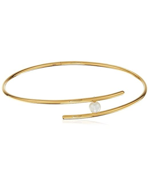 Rebecca Minkoff - Metallic Metal Linear Interlock Bangle Bracelet - Lyst