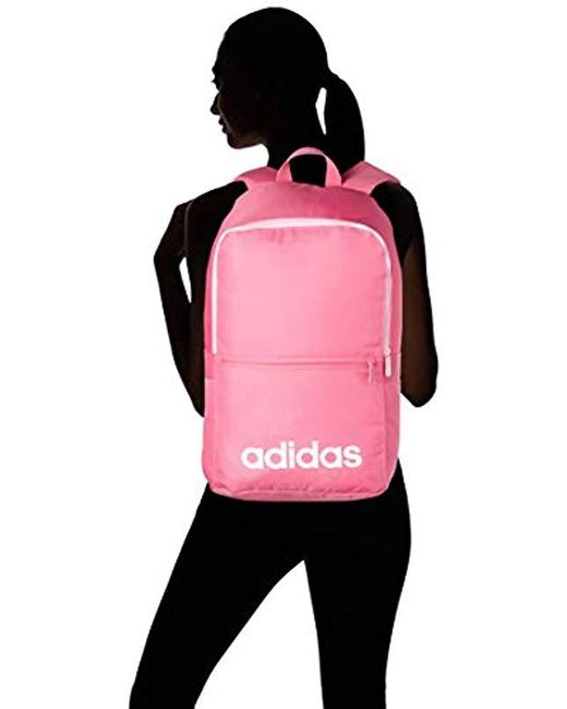 adidas Unisex Linear Classic Daily Backpack in Pink Lyst