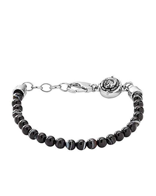 DIESEL Herren-Armband DX0848040 in Black für Herren