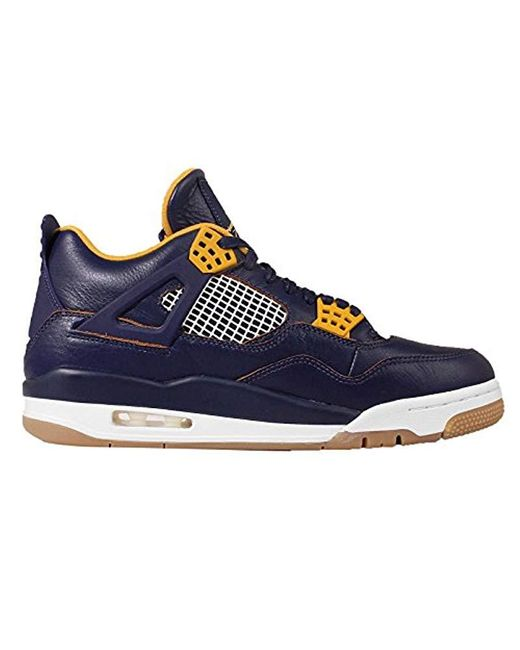 brand new d1a6b 77a1e Nike Air Jordan 4 Retro Fitness Shoes in Blue for Men - Save ...