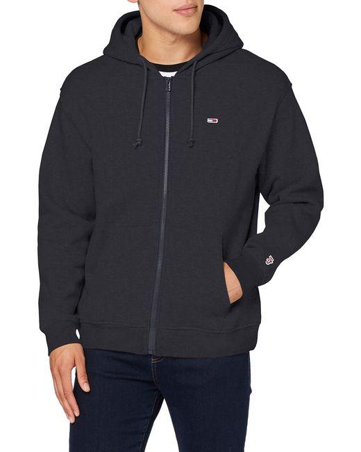 Tommy Hilfiger Black Tjm Classics Zipthru Sweatshirt for men