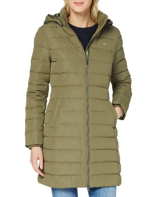 Tjw Quilted Down Coat Giacca di Tommy Hilfiger in Green
