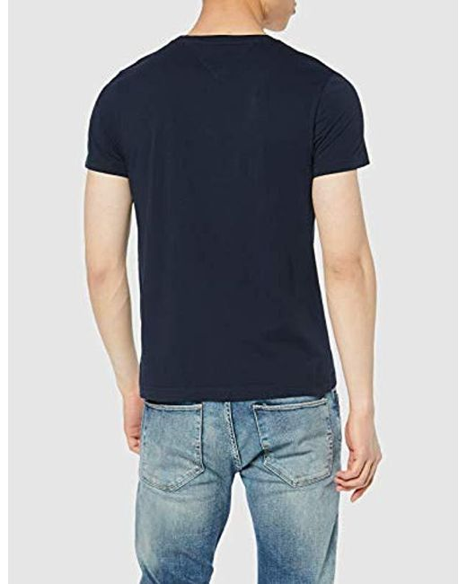 519b14a2 ... Tommy Hilfiger - Blue Corp Flag Tee Short Sleeve T for Men - Lyst ...