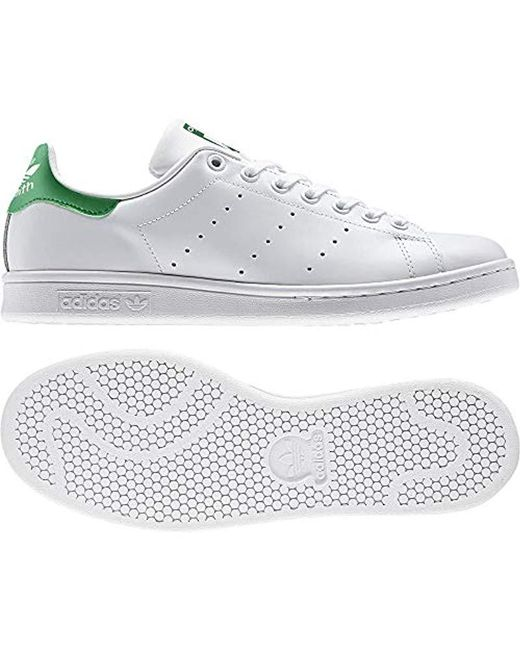 ed19b6c840318 Men's White Stan Smith Leather Trainers