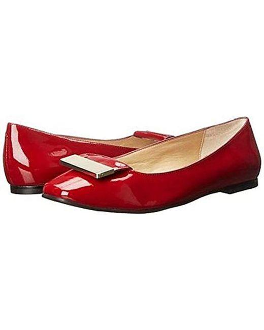 Vaneli Red Jalo Ballet Flat