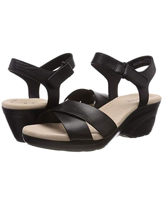 b55c62e37f4c5 Clarks Lynette Deb Womens Sandals in Black - Save 10% - Lyst