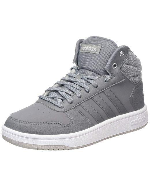 Hoops 2.0 Mid Adidas pour homme en coloris Gray