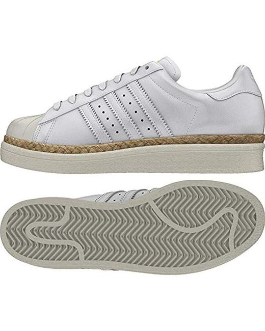 new concept 3ccf0 b1ce5 Women's White Superstar 80s New Bold W Fitness Shoes