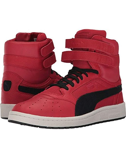 PUMA - Red Sky Ii Hi Color Blocked Lthr Sneaker for Men - Lyst