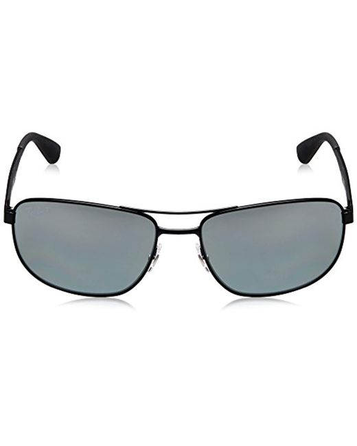 1fb42e3cea ... Ray-Ban - Metal Sunglasses In Matte Black Polarised Rb3528 006 82 61  for ...