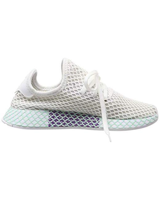 d3437d82b26dd ... Adidas - White Deerupt Runner W Running Shoes - Lyst ...