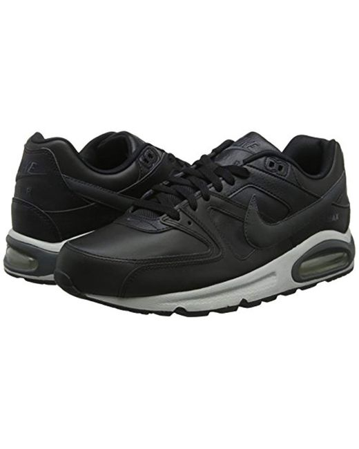 Men's Black Air Max Command Leather Trainers