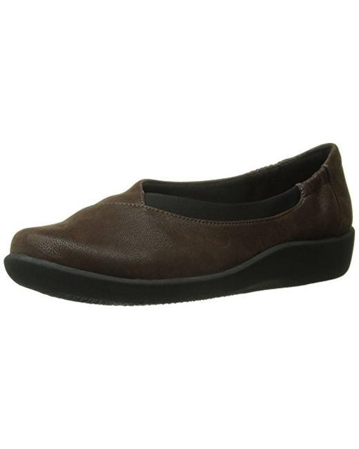 Clarks - Brown Cloudsteppers Sillian Jetay Flat - Lyst