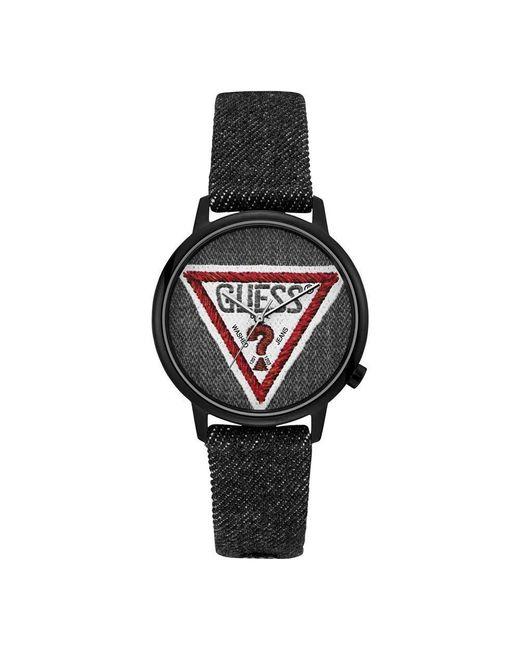 Mixte Analogique Quartz Montre avec Bracelet en Tissu V1014M2 Guess en coloris Black