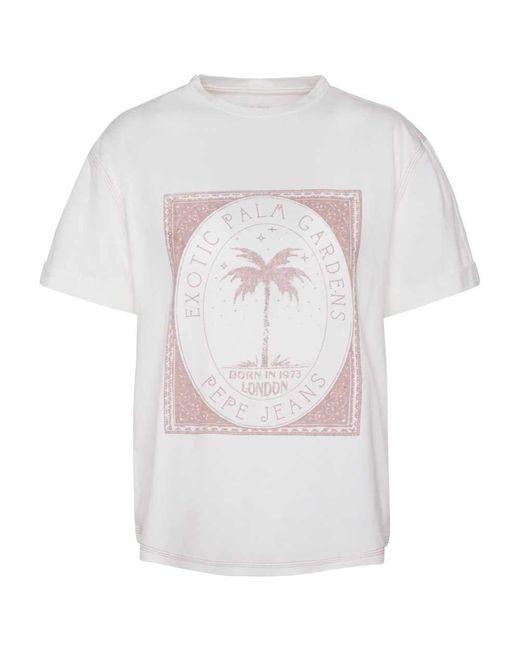 Maglietta Peace bianco S di Pepe Jeans in White