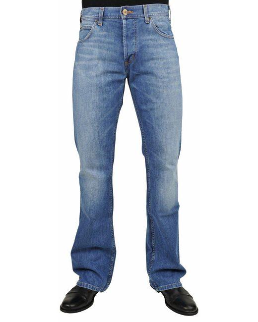 Lee Jeans Jeans Denver - mid worn, Größe:W33 L30 in Blue für Herren