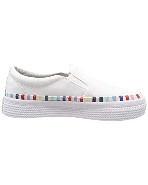bb5250bf7f778 Tommy Hilfiger Slip On Rainbow Flatform Sneaker Low-top in White - Lyst
