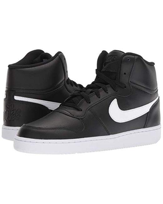 Herrenschuhe Sneaker Nike EBERNON MID 002 BLACK   MARKEN
