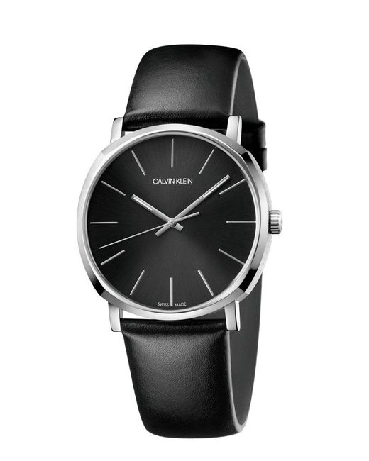 Orologio Analogico Quarzo Uomo con Cinturino in Pelle K8Q311C1 di Calvin Klein in Black da Uomo