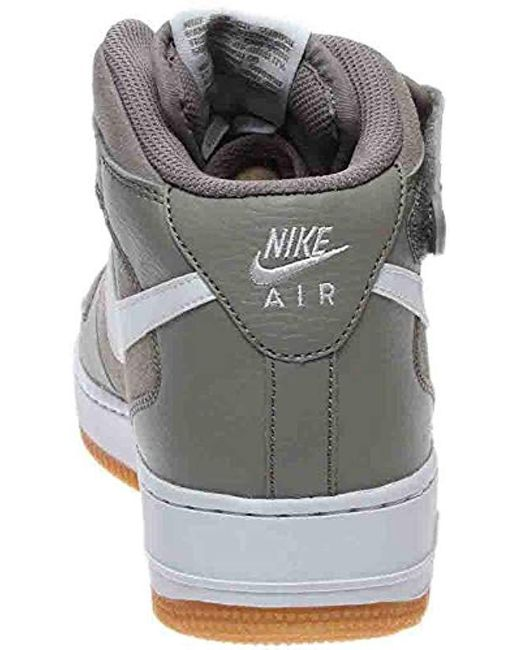Women's Gray Air Force 1 Mid 314195 200 Size 5y White