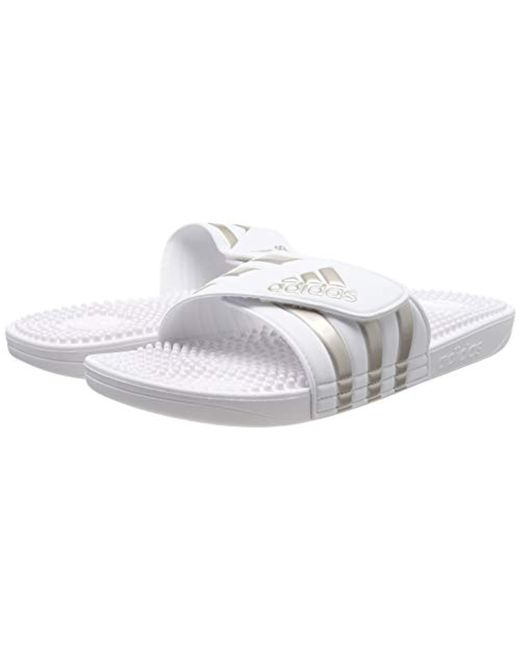 0029a0b8d ... Adidas - White Unisex Adults  Adissage Beach   Pool Shoes for Men ...
