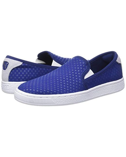 3c2d47f97e0 Puma Basket Slip On Denim Wn s Low-top Sneakers in Blue - Lyst