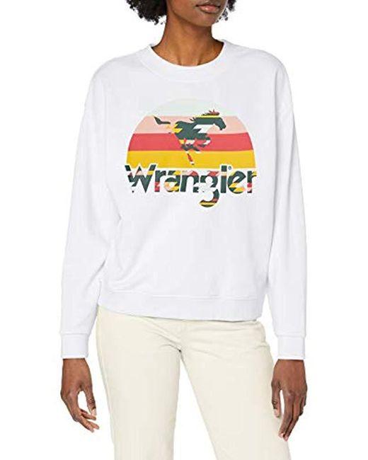 Wrangler White Sweatshirt
