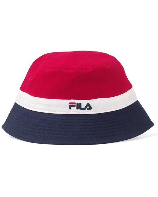 Cappello vintage da uomo Butler a righe retrò rosso/blu/bianco. Taglia unica di Fila in Multicolor da Uomo