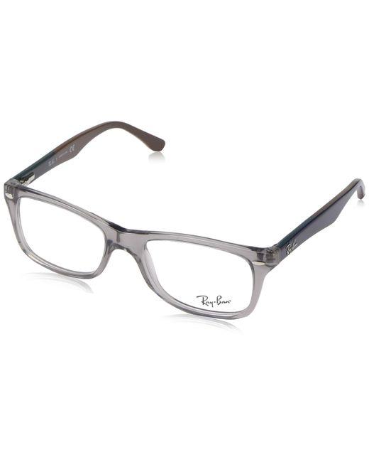 0rx 5228 5405 53 Monturas de gafas Ray-Ban de color Metallic