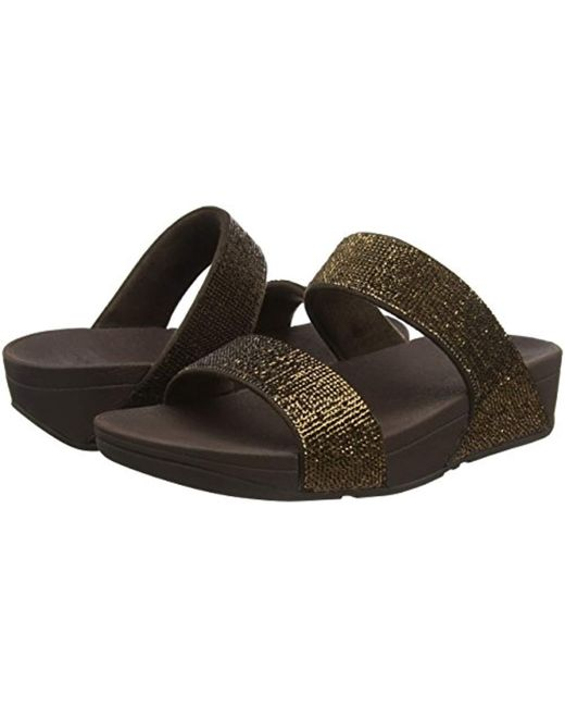 ed5c625f741 ... Fitflop - Brown Electra Micro Slide Open Toe Sandals - Lyst ...