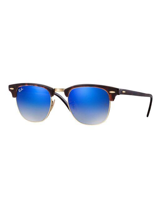 Lunettes de soleil pour homme RAY BAN Ecaille RB 3016 CLUBMASTER 990/7Q 49/21 Ray-Ban en coloris Blue