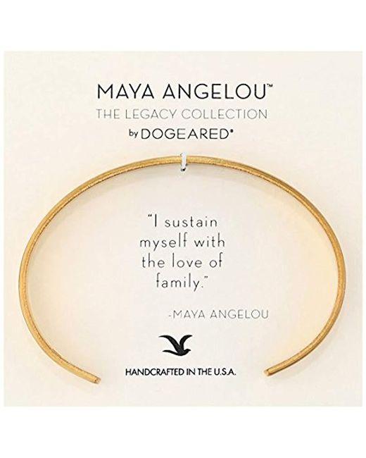 "Dogeared - Metallic Maya Angelou 2.0""i Sustain Myself. Thin Engraved Cuff Bracelet - Lyst"