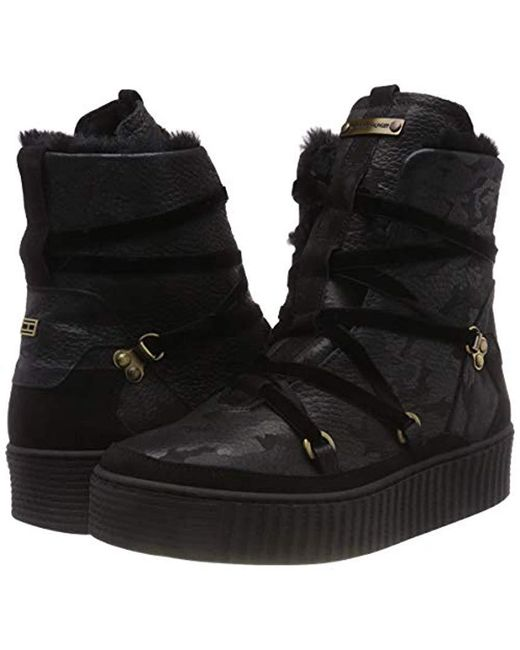 1e24f580b58 Women's Black Cosy Warmlined Leather Boot Snow
