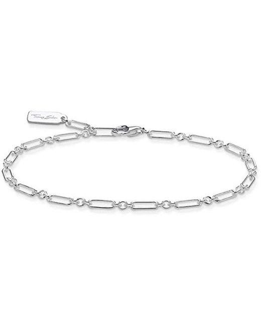 Thomas Sabo Metallic Silver Link Bracelet A1822-001-21-l19v