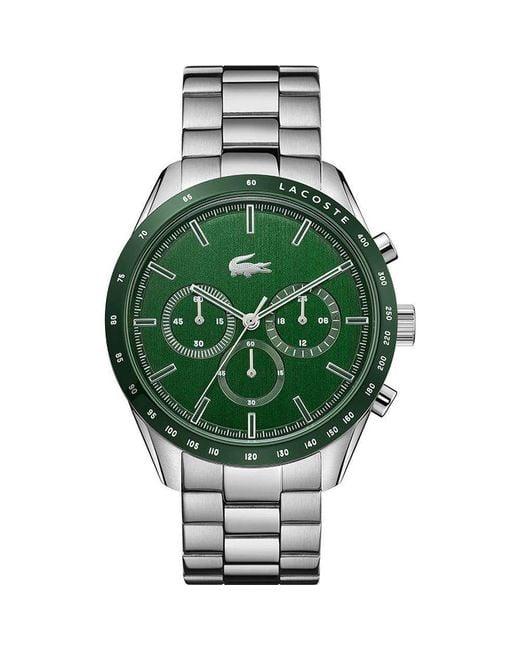Orologio Analogico Quarzo Uomo con Cinturino in Acciaio Inox 2011080 di Lacoste in Green da Uomo