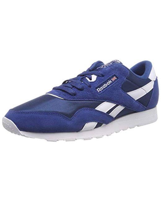 8d717fc282c7 Reebok - Blue  s Cl Nylon M Gymnastics Shoes for Men - Lyst ...