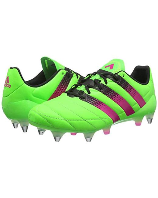 00082834ff3ce ... Adidas - Green Ace 16.1 Sg Leather Football Boots for Men - Lyst ...