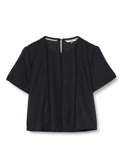 Tjw Pintuck Detail Top Camicia di Tommy Hilfiger in Black
