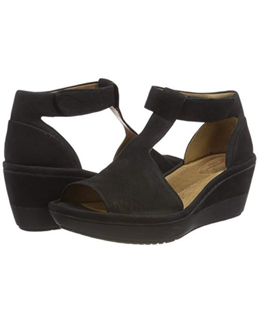 d2c0ad04e24 Clarks  s Wynnmere Avah Ankle Strap Sandals in Black - Lyst