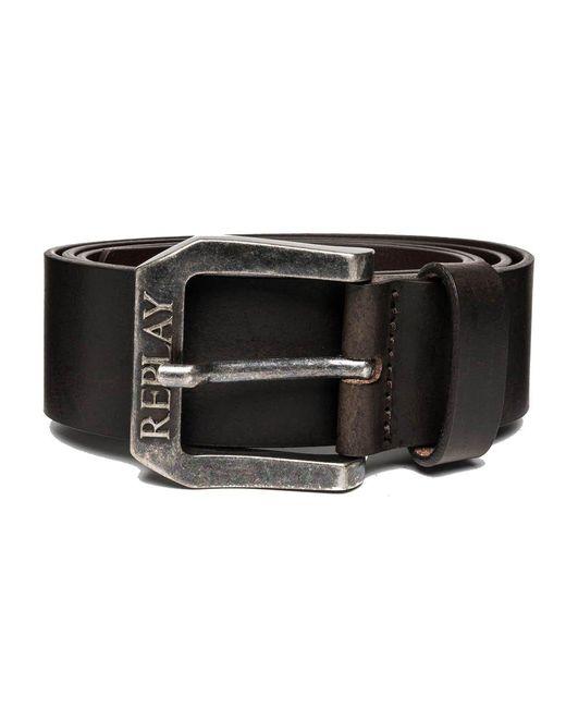 Am2417.000.a3001 Cintura di Replay in Black da Uomo