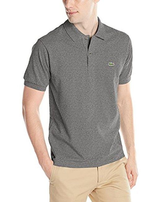 4e46b936f Lacoste - Blue Short Sleeve Pique Classic Fit Chine Polo Shirt, L1264 for  Men ...