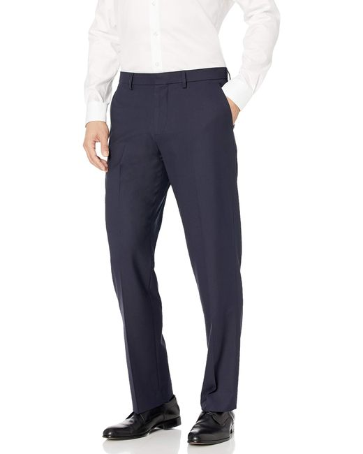 Classic-Fit Wrinkle-Resistant Stretch Dress Pant Pants di Amazon Essentials in Blue da Uomo