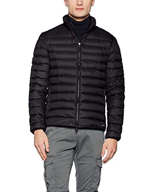 Geox - Black Man Down Jacket Coat for Men - Lyst