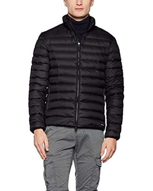 Geox - Black Man Down Jacket for Men - Lyst