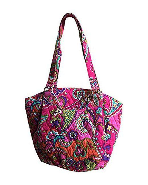 192b20aa816 Lyst - Vera Bradley Glenna Shoulder Bag, Signature Cotton in Pink