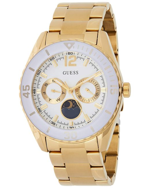 Guess Metallic S Analogue Quartz Watch With Stainless Steel Strap W0565l2