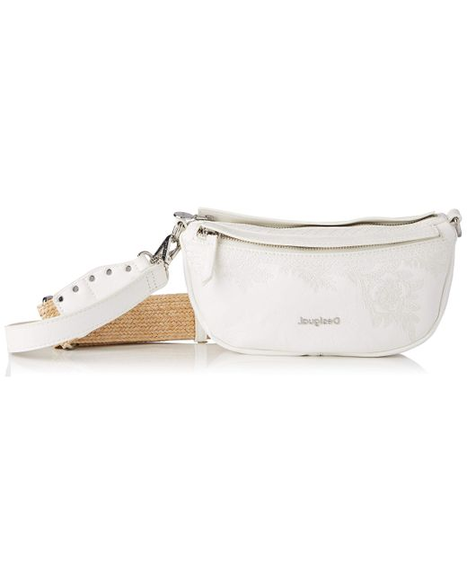 Desigual White Women's Pu Shoulder Bag