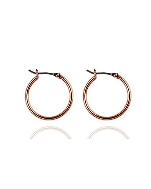 "Nine West - Metallic ""classics"" Gold-tone Small Click-top Hoop Earrings - Lyst"