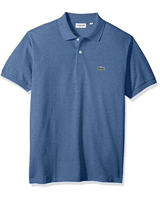 Lacoste - Blue Short Sleeve Pique Classic Fit Chine Polo Shirt, L1264 for Men - Lyst